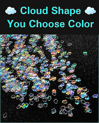 CLOUD Shape Glitter~U Choose Color~Nail Art•Acrylic•Gel•Body Art•Festival•Crafts