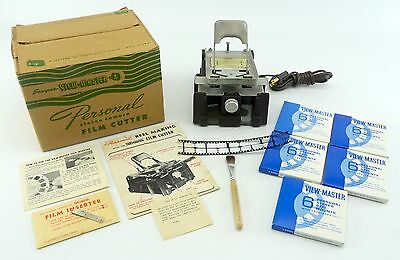 View-Master Film Cutter - COMPLETE Kit w/ Inserter & Box + 30 NEW reels (rbVM)