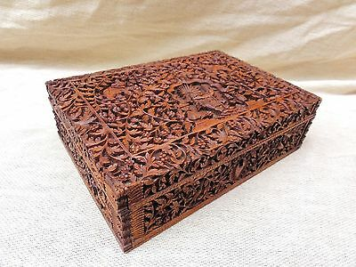 A Carved Anglo Indian Sandalwood Box