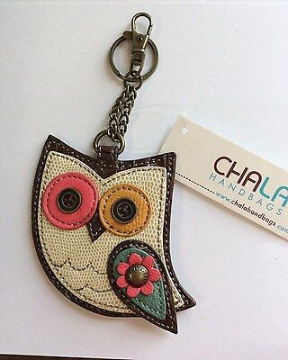 Chala Colorful Owl Key Chain Charm FOB Ring Coin Purse New