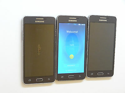 Lot of 3 Samsung Galaxy Grand Prime SM-G530T T-Mobile Smartphones Power On AS-IS