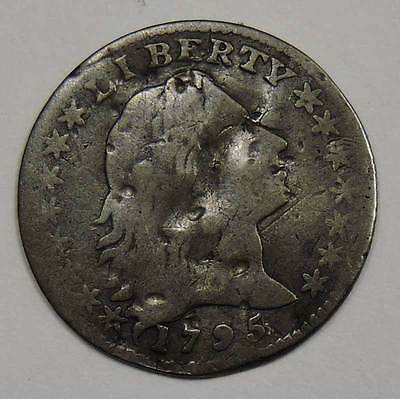 1795 US Mint Flowing Hair Silver Half Dime.