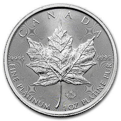 2017 Canada 1 oz Platinum Maple Leaf (MintDirect® Single) - SKU #102376