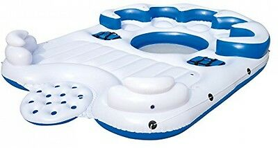 Catamaran Inflatable Floating Island Party Raft Lounge, River, Lake, Ocean Float