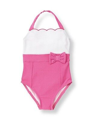 NWT Janie And Jack Pink And White One Piece Swimsuit  Size 4