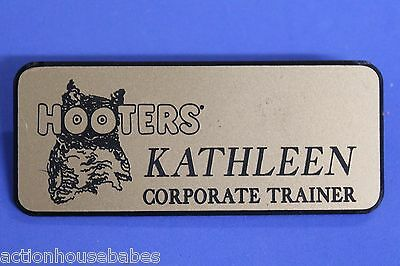 Hooters Restaurant Girl Kathleen Corporate Trainer Gold Name Tag (Pin)