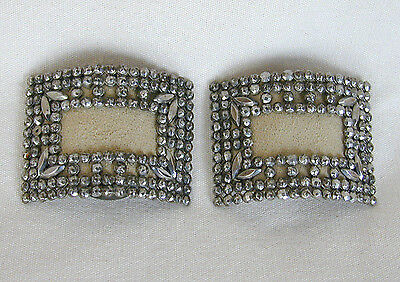 Vintage/Antique Steel Cut Shoe Buckles with Attached Clips