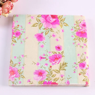 20pcs Vintage Patterned Paper Napkins Birthday Wedding Party Home Decorative