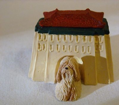 Sandicast Barkitecture Lhasa Apso & Tibetan Temple Dog House Statue Made in USA