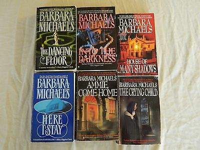 Barbara Michaels – Gothic Romance- Lot Of 6 Paper Back Books