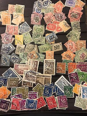 Old Finland Stamp Collection Suomi