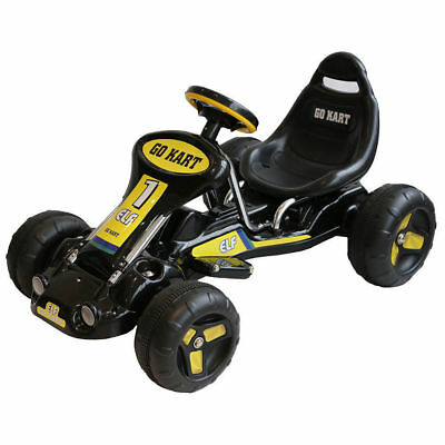 Kids Ride On Electric Go Kart Rechargeable Children Toy Bike/Car/Racing Black