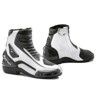 Forma AXEL white mens womens street road motorcycle boots