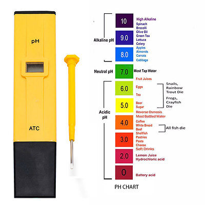 Electric Digital Ph Meter Tester Hydroponics Pen Aquarium Pool Water Test UK