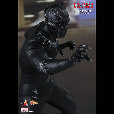 "Hot Toys Marvel CA3 Civil War - Black Panther 12"" 1:6 Scale Action Figure"