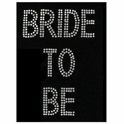 Bride To Be Diamante Transfer for Hen Night Party Fun Novelty