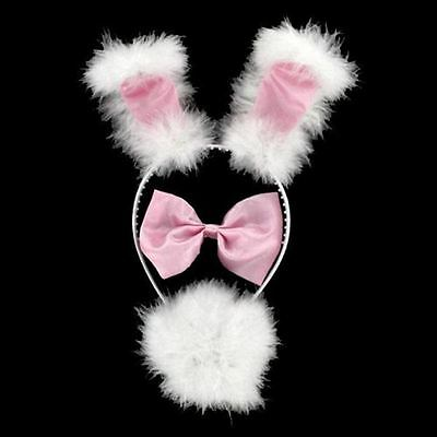 Girls Pink and White Fluffy Bunny Dress up Set!