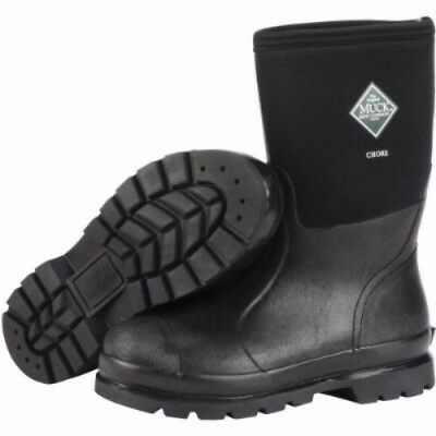 Muck Boots Muck Chore Mid Boot Black Size 8 Chm-000A-8