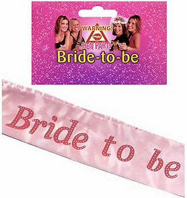 Bride to Be Hen Party Sash Hen Night Party Do Accessories Wedding Dress