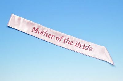 Pink Mother Of The Bride Hen Party Sash