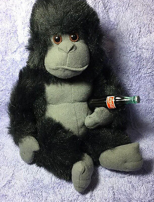 Coca Cola Plush Stuffed Toy Gorilla With Coke Bottle Collectible