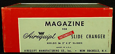 """Lot of 4 Airequipt Automatic Slide Projector Trays Magazine 2 """"x 2"""""""