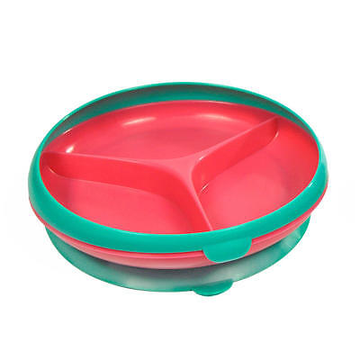 The First Years Inside Scoop Suction Sectioned Plate 1-Pack, Green/Red