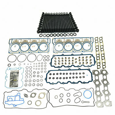 NEW CYLINDER HEAD STUD KIT&HEAD GASKET SET FOR 20mm 06-07 FORD 6.0L POWERSTROKE