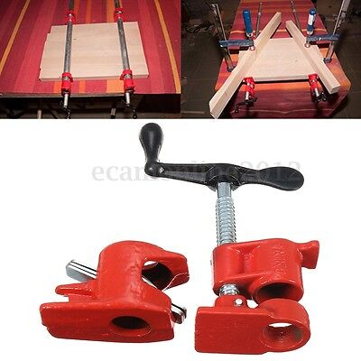 1/2'' Iron Heavy Duty Wood Gluing Pipe Clamp Clip Set Woodworking Carpenter Tool