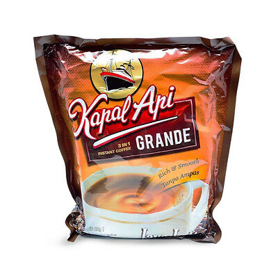 Kapal Api Grande Kopi 20x20g 3in1 Instant Coffee Powder Baverage Original
