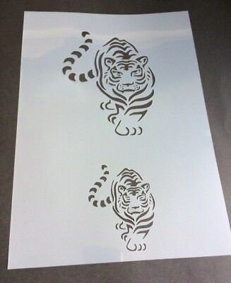 Tiger Animal Mylar Reusable Stencil Airbrush Painting Art Craft DIY Home Decor