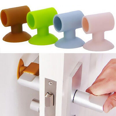 1Pcs Protector Collision Home Safety Cover Doorknob Door Handle Silicone Anti