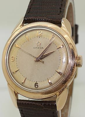 Vintage 1950's Fancy Lug Gold Filled Omega 2715-5 - Cal. 420 Manual