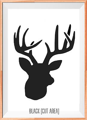 Stag Deer Head Large Mylar Reusable Stencil Airbrush Painting Art Craft DIY Home
