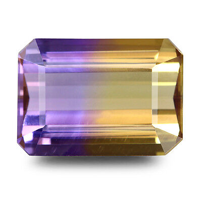 100%Natural 6.73Ct.Unheated Octagon Cut Bi-Color Ametrine Gemstone From Bolivia