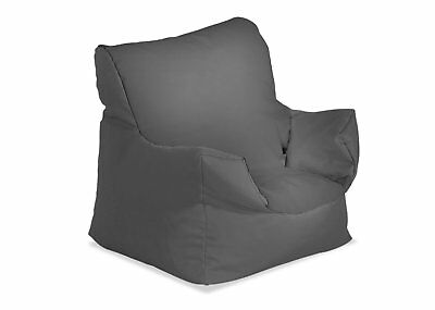 Humza Amani Bonkers Toddlers Bean Bag Chair in Grey Water Resistant - FILLED