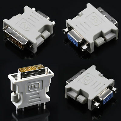 15 Pin Video Converter for Adapter 24+1 pin Male to VGA DVI-D Female PC Laptop