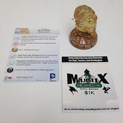 Heroclix Justice League Trinity War set Gluttony #068 Chase figure w/card!