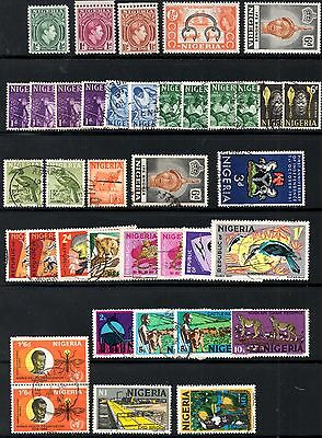 (Ref-10128) Nigeria - Selection of Stamps Used and Mint (Hinged) Some Duplicates