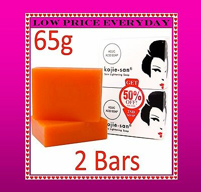 2 X Genuine Kojie San Kojic Acid Soap Skin Lightening Kojiesan Whitening