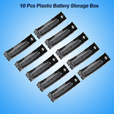10pcs/lot Battery Storage Box Holder Plastic for 3.7V 18650 Battery with Pin HL