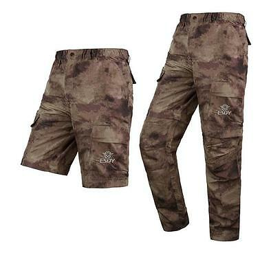 Camo Removable Trousers Mesh Quick Dry Pants UVA Protection Breathable Pants