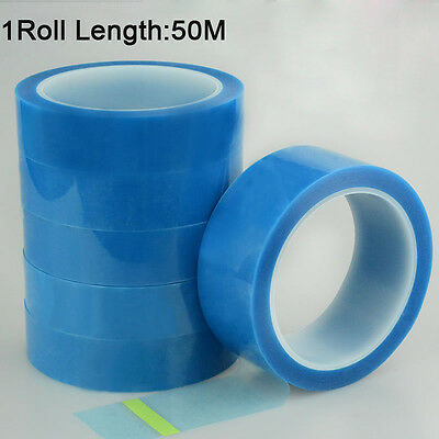 PET Clear Blue Film Tape for Fridge Printer Air Conditioning (5mm-100mm) x 50m