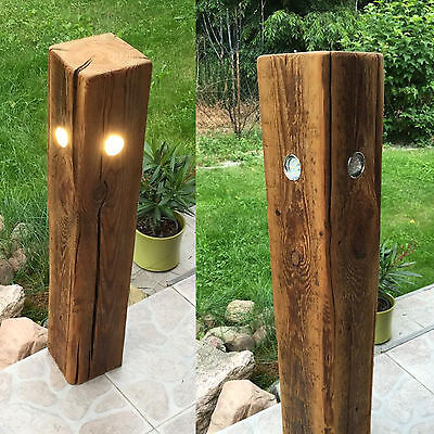 garten lampe gartenleuchte standleuchte aussenleuchte alt holz led quatro 80cm eur 159 90. Black Bedroom Furniture Sets. Home Design Ideas