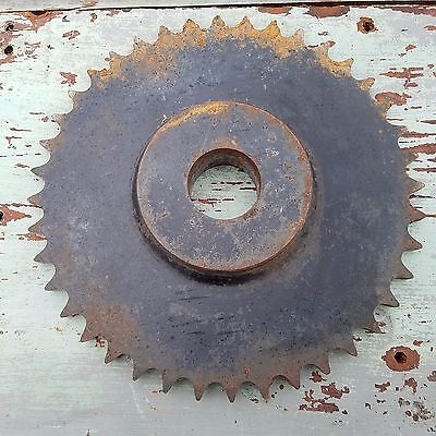 "GEAR  MACHINE PART - 10"" x 1 1/4""  - STEAMPUNK INDUSTRIAL ART  (2)"