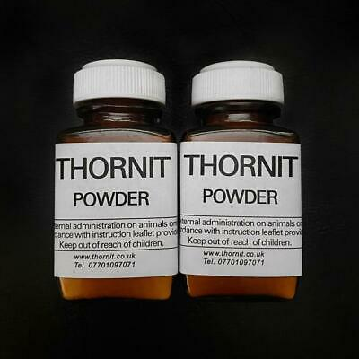 2 x 20g -THORNIT CANKER POWDER ORIGINAL PROVEN FORMULA KILLS EAR MITES DOGS CATS
