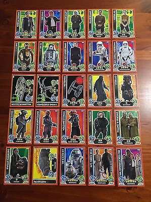 Star Wars - Force Attax Extra (TOPPS collector cards) 25 x Cards Lot