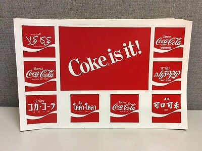 100 Coca Cola Coke Is It Sticker Decal Postcard 8 Language French Hebrew Chinese