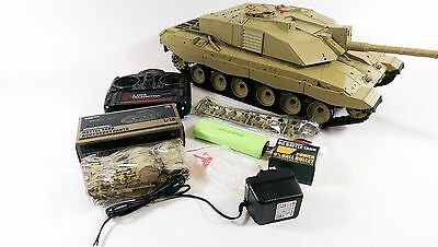 HUGE! Heng Long 1/16 2.4GHz Challenger 2 BB RC Tank British Desert SMOKE SOUND