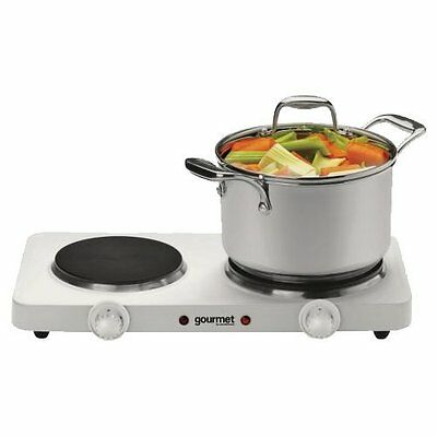 Double Electric Hob Hotplate Lightweight Compact Cooker Food Warmer Fast 2500W